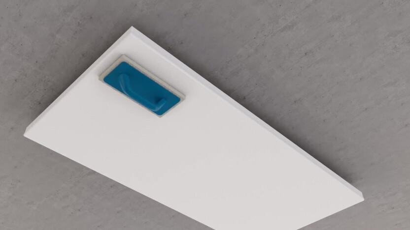 Video thumbnail, installation video, rockfon system b adhesive, direct mounting, glued