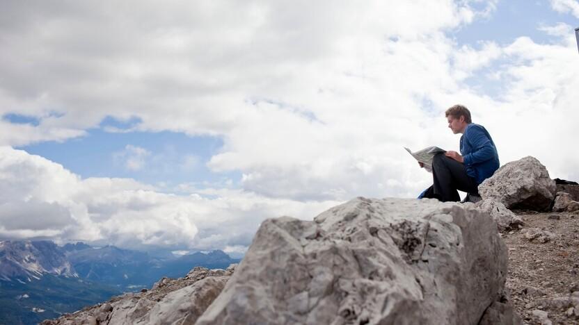 Man on mountain