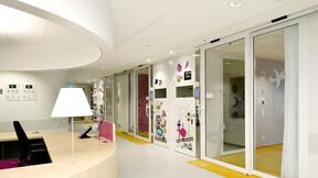 Emma Children's hospital, Amsterdam, the Netherlands, ROCKFON Mono Acoustic, Krios Dznl/D-edge, Sonar D-edge, Hydroclean, OD205 architectuur, Element binnenafbouw, ROCKFON Mono Acoustic
