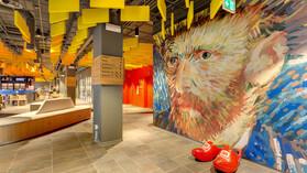 Meininger Hotel,The Netherlands,Amsterdam,Christian Sandor Tschersich,LAVA Architecture,Rockfon Contour,Ac-edge,Chicago Metallic™ T24 Hook 2850