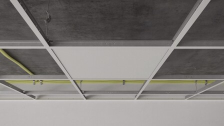 RFN-EA, chicago metallic, grid, installation, rockfon system t24 a, installation video frame