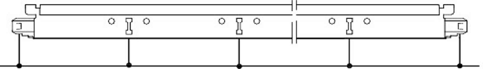Positie van slots en ophangpunten