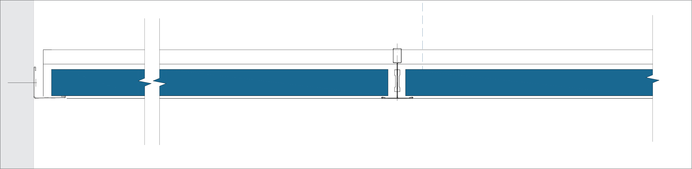 A - Perimeter finish with wall angle trim ECR
