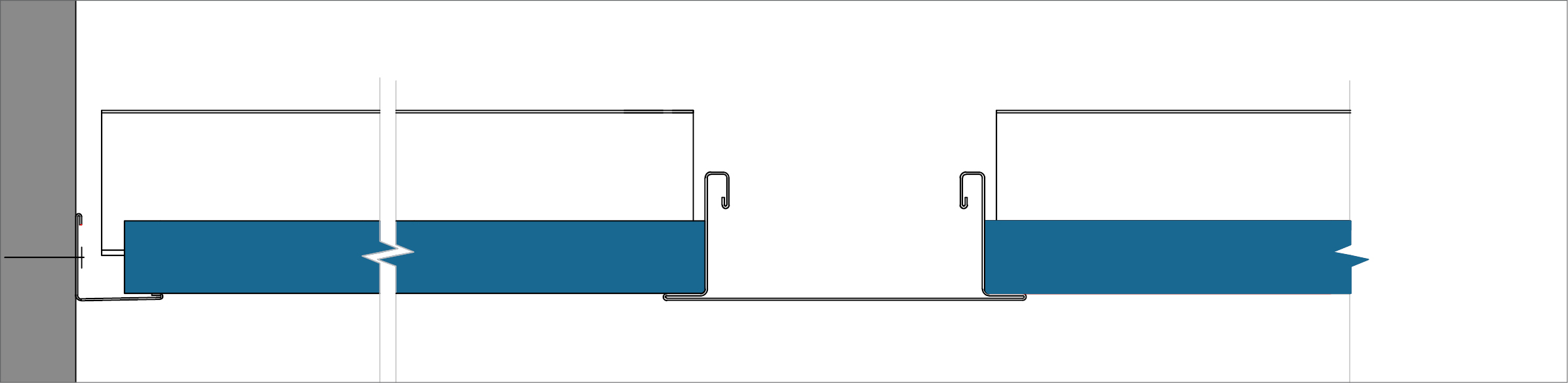 Bandraster Dznl-AEX - Perimeter finish with wall angle trim