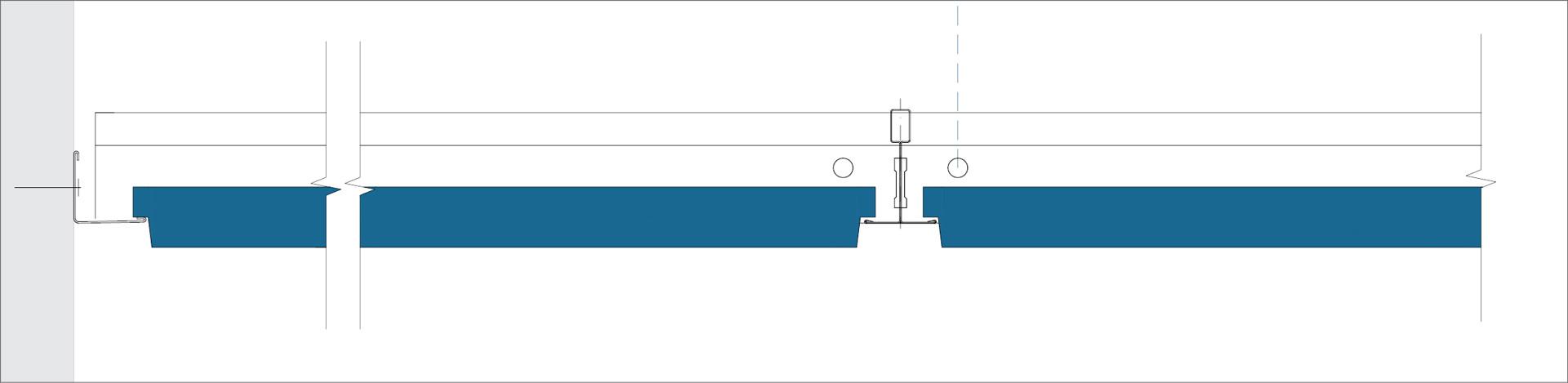 E - Perimeter finish with wall angle trim ECR
