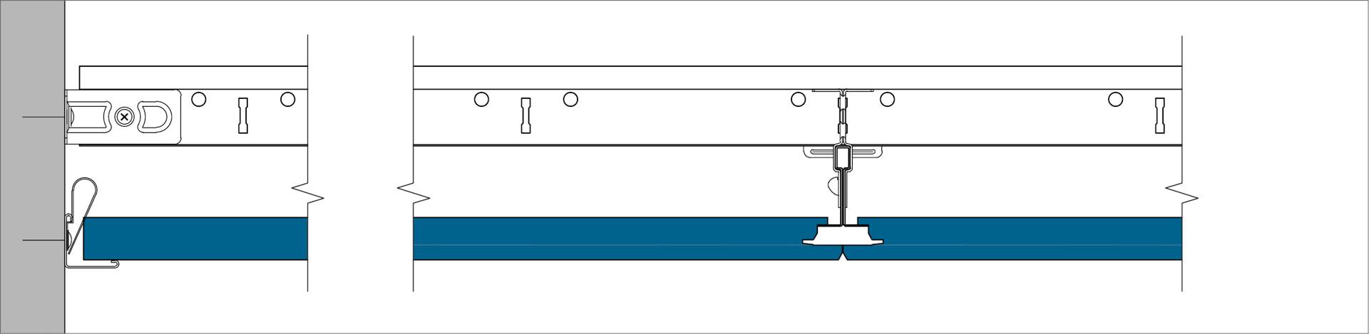 X DLC - Perimeter finish with wall angle trim